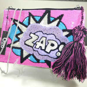 Sam Edelman Circus ZAP Sequin Clutch Bag